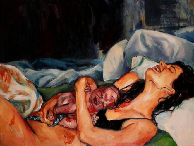 Amanda Greavette birth art
